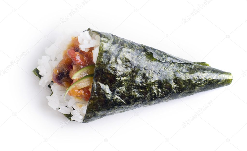 Hand roll temaki sushi — Stock Photo © szefei #2489721