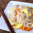 Fried rice vermicelli — Stock Photo