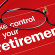 Foto de Stock  : Take control of your retirement