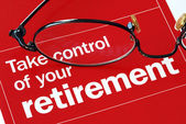 Take control of your retirement — 图库照片