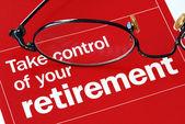 控制您的退休 — 图库照片