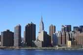 Skyline for Mid-town Manhattan in NY — Stock Photo