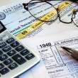 Stock Photo: Calculate income tax