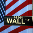 Street sign for Wall Street - Stock Photo