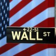 Street sign for Wall Street — Stock Photo