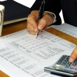 Foto Stock: Checking financial statement