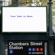 Foto de Stock  : Billboard of train station