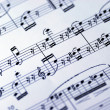 Royalty-Free Stock Photo: Music sheet on the white background