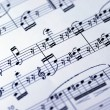Music sheet on the white background — Stock Photo