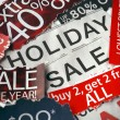 Various holiday on sale signs — Stock Photo