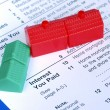 Stock Photo: Filling mortgage interest deduction