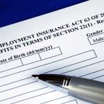 Unemployment insurance application — Stock Photo