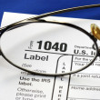Stock Photo: Focus on United States Income Tax