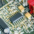 Close-up view of the circuit board — Stock Photo