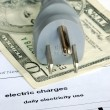 Stock Photo: Monthly electric bill