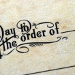 """Pay To Order Of"" — Stock Photo #2017813"