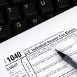 在线申报所得税纳税申报表 — 图库照片