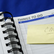 """To Do List"" on the day planner — Stock Photo"