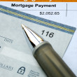 Paying the mortgage for the home — Stock Photo