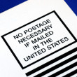 No postage is necessary — Stock Photo