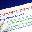 Stock Photo: Select your bank account in deposit