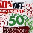 hoeveel we besparen door knippen coupons — Stockfoto
