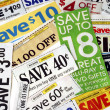 Cut up some coupons to save money — ストック写真