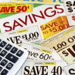 Calculate how much we save — Stock Photo
