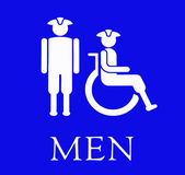 The sign for the Men's restroom. — Stock Photo