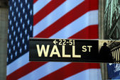 Street sign for Wall Street — Stockfoto