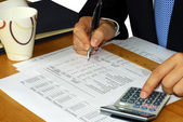 Checking the financial statement — Stock Photo