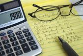 Ustalenia miesięcznego budżetu — Zdjęcie stockowe