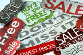 Don't miss the on sale and free deals — Stock Photo