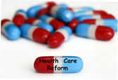 реформа здравоохранения таблетки — Стоковое фото