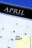 April 15th is the due day for tax — Stock Photo
