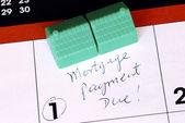 Pamiętaj płacić kredytów hipotecznych w domu na czas — Zdjęcie stockowe