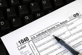 Filing the income tax return online — Photo