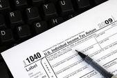 Online gelir vergisi beyannamesi dosyalama — Stok fotoğraf