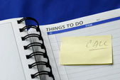 """""""To Do List"""" on the day planner — Stock Photo"""