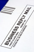 Close-up view of a Business Reply Mail — Stock Photo