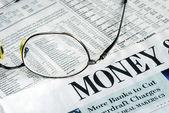 专注于钱投资 — 图库照片