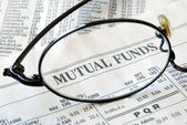 Focus on mutual fund investing — Stock Photo