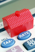 Calculate the mortgage rate and tax — Stock Photo