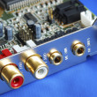 Close up view of a sound card — Stock Photo