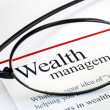 Stock Photo: Focus on wealth management