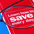 Focus on learning how to save money — 图库照片 #2020685
