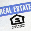 Equal housing opportunity — Stock Photo