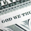 Stock Photo: In God We Trust from dollar bill