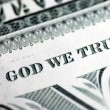 In God We Trust from the dollar bill — Stock Photo