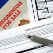 Fill in the mortgage application - Stock Photo